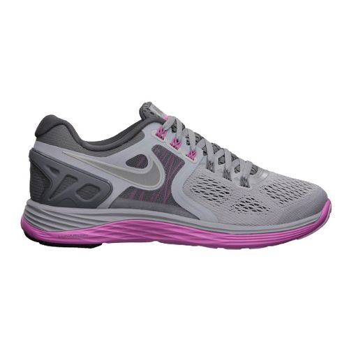 Womens Nike LunarEclipse 4 Running Shoe - Grey/Grape 7.5