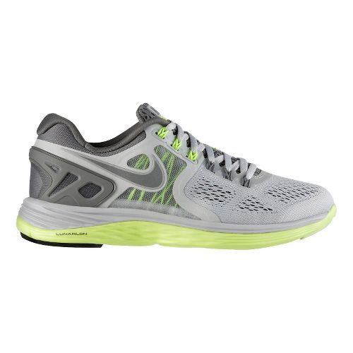 Womens Nike LunarEclipse 4 Running Shoe - Grey/Lime 10.5