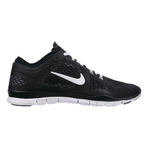 Womens Nike Free 5.0 TR Fit 4 Cross Training Shoe - Black/White 9.5