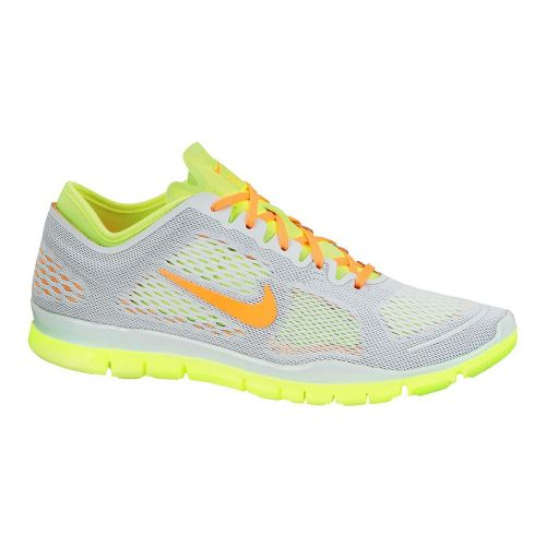 Womens Nike Free 5.0 TR Fit 4 Cross Training Shoe - Grey/Volt 9.5