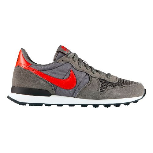 Mens Nike Internationalist Casual Shoe - Grey/Red 10