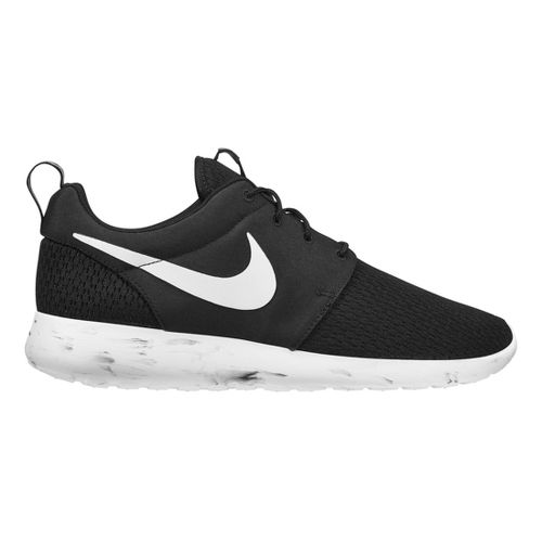 Mens Nike Roshe Run Casual Shoe - Black/White 8.5