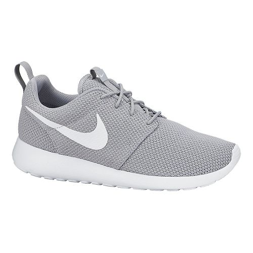 Mens Nike Roshe Run Casual Shoe - Grey/White 10.5