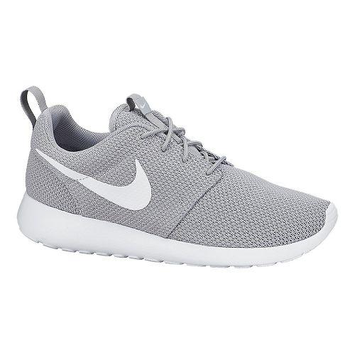 Mens Nike Roshe Run Casual Shoe - Grey/White 12.5