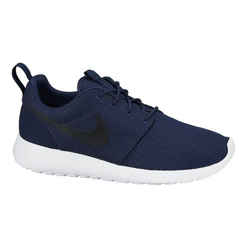 Mens Nike Roshe Run Casual Shoe - Navy/White 10.5
