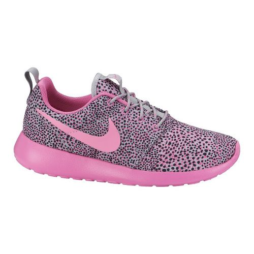 Womens Nike Roshe Run Print Casual Shoe - Pink 11
