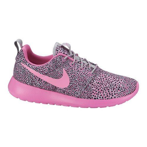 Womens Nike Roshe Run Print Casual Shoe - Pink 7