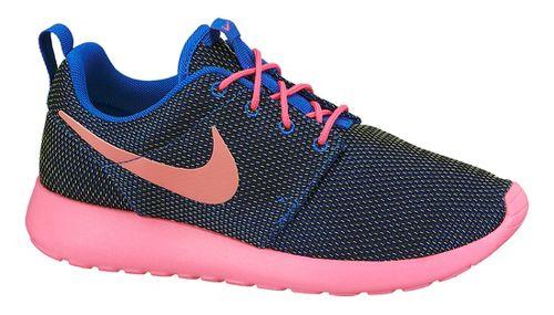 Womens Nike Roshe Run Casual Shoe - Black/Pink 9.5