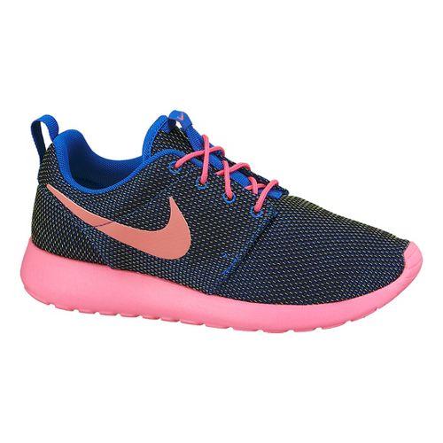 Womens Nike Roshe Run Casual Shoe - Black/Pink 8.5