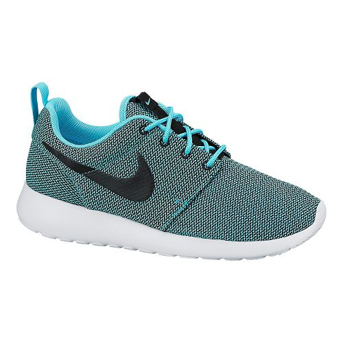 Womens Nike Roshe Run Casual Shoe - Blue/Black 8.5