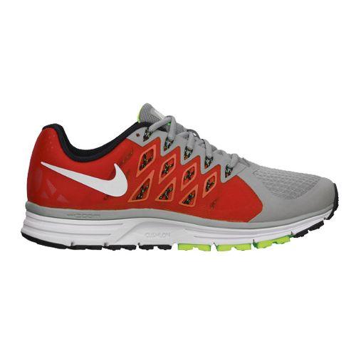 Mens Nike Air Zoom Vomero 9 Running Shoe - Grey/Red 10.5