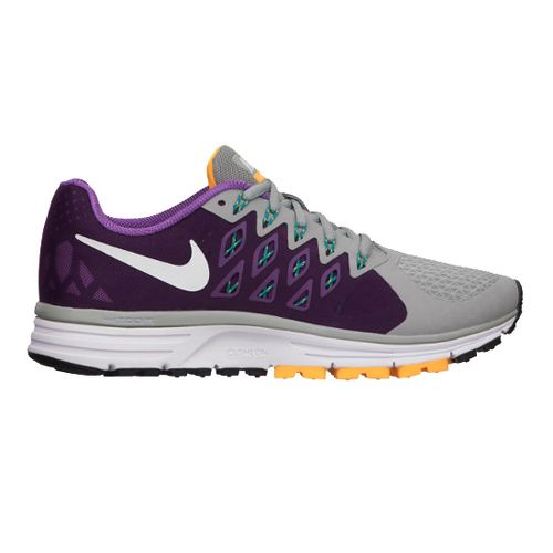 Womens Nike Air Zoom Vomero 9 Running Shoe - Grey/Grape 7.5