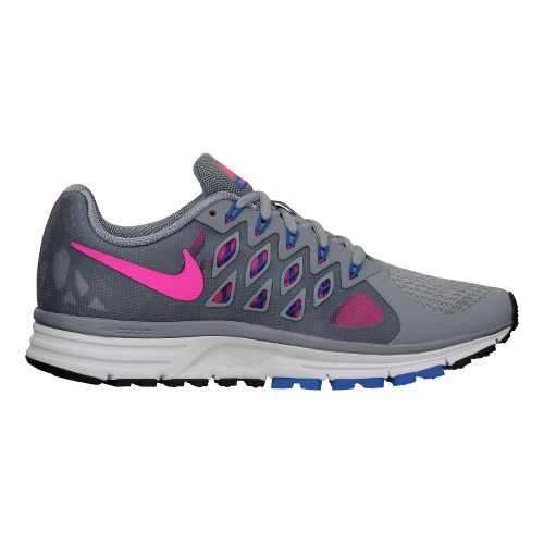 Womens Nike Air Zoom Vomero 9 Running Shoe - Grey/Pink 8