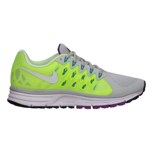 Womens Nike Air Zoom Vomero 9 Running Shoe - Grey/Volt 5