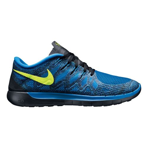 Mens Nike Free 5.0 Running Shoe - Blue 12.5