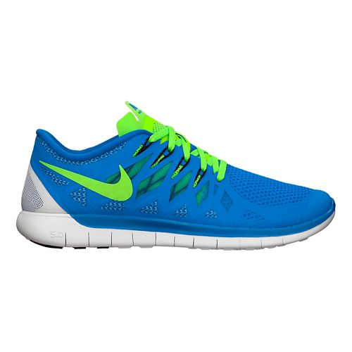 Mens Nike Free 5.0 Running Shoe - Blue/Green 11.5