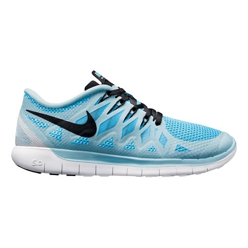 Womens Nike Free 5.0 Running Shoe - Blue 10.5