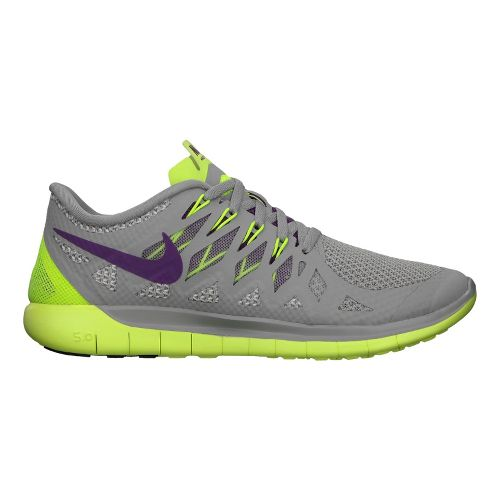 Womens Nike Free 5.0 Running Shoe - Grey/Volt 8.5