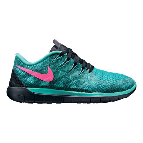 Womens Nike Free 5.0 Running Shoe - Jade 10.5