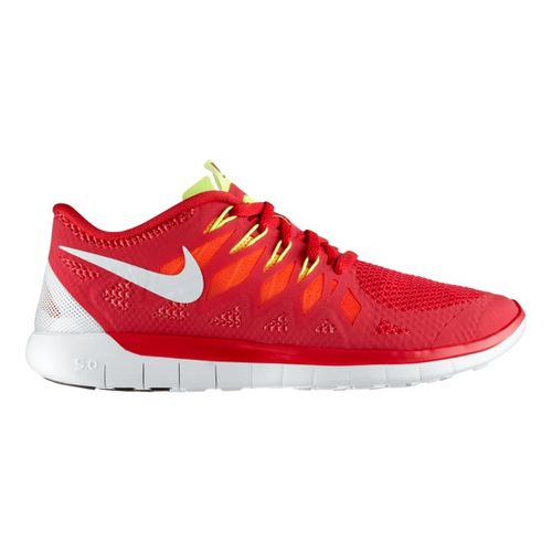Womens Nike Free 5.0 Running Shoe - Red 8.5