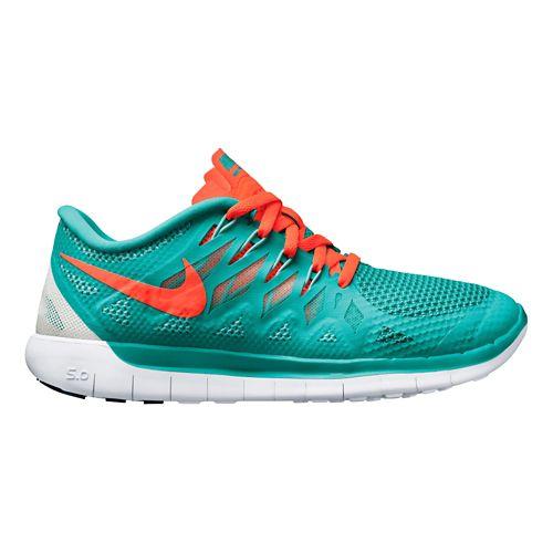 Womens Nike Free 5.0 Running Shoe - Turquoise 10.5