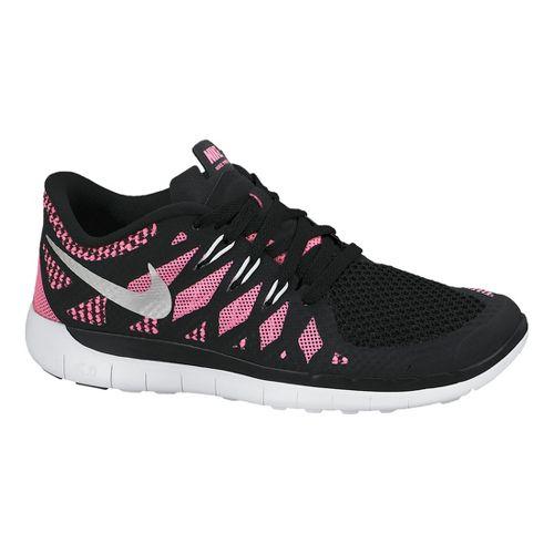 Kids Nike Free 5.0 (GS) Running Shoe - Black/Pink 6