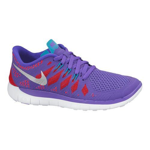 Kids Nike Free 5.0 (GS) Running Shoe - Purple 5.5