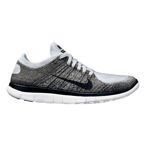 Mens Nike Free 4.0 Flyknit Running Shoe - Grey 8