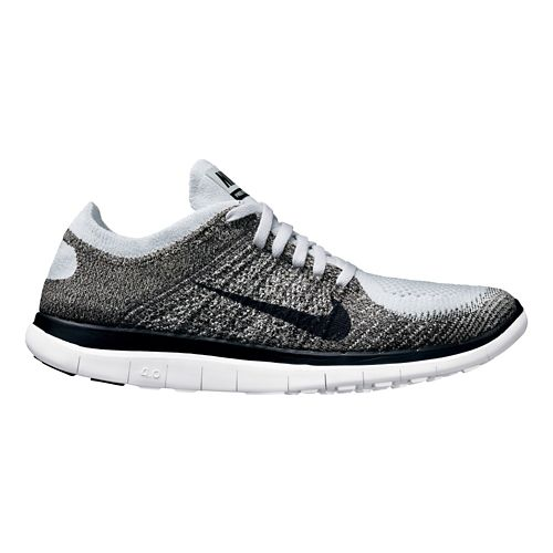 Mens Nike Free 4.0 Flyknit Running Shoe - Grey 9