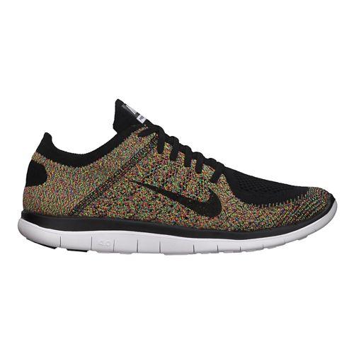 Mens Nike Free 4.0 Flyknit Running Shoe - Multi 9.5