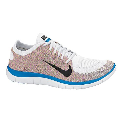 Womens Nike Free 4.0 Flyknit Running Shoe - Multi 10.5