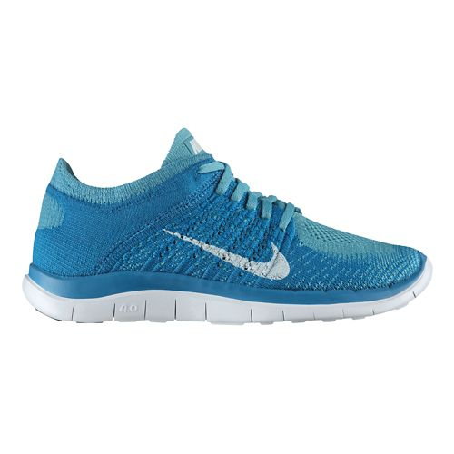 Womens Nike Free 4.0 Flyknit Running Shoe - Turquoise 10.5