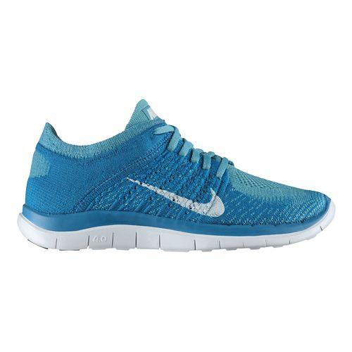 Womens Nike Free 4.0 Flyknit Running Shoe - Turquoise 6