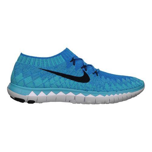 Mens Nike Free 3.0 Flyknit Running Shoe - Blue/Black 9.5