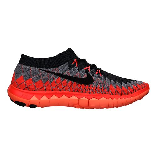 Mens Nike Free 3.0 Flyknit Running Shoe - Grey/Black 10.5