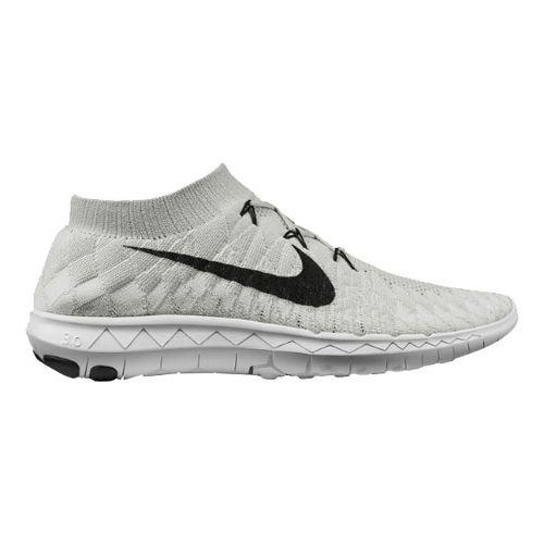 Mens Nike Free 3.0 Flyknit Running Shoe - Silver 8.5