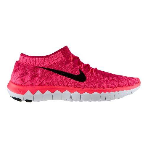 Womens Nike Free 3.0 Flyknit Running Shoe - Berry 7.5