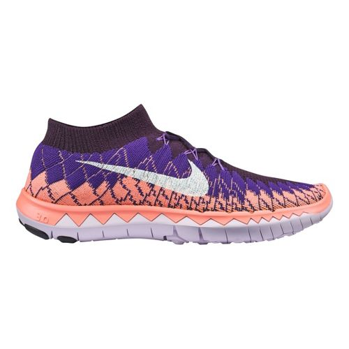 Womens Nike Free 3.0 Flyknit Running Shoe - Purple 10