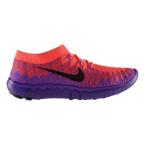 Womens Nike Free 3.0 Flyknit Running Shoe - Purple 7.5