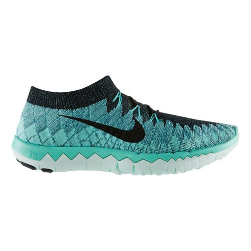 Womens Nike Free 3.0 Flyknit Running Shoe - Teal 6.5