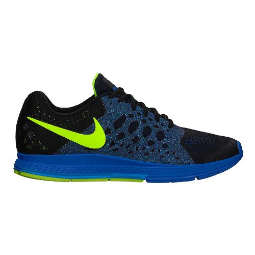 Mens Nike Air Zoom Pegasus 31 Running Shoe - Black/Blue 10.5