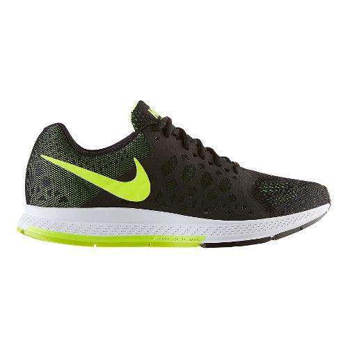 Mens Nike Air Zoom Pegasus 31 Running Shoe - Black/Volt 10