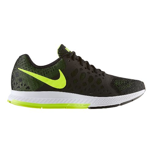Mens Nike Air Zoom Pegasus 31 Running Shoe - Black/Volt 12