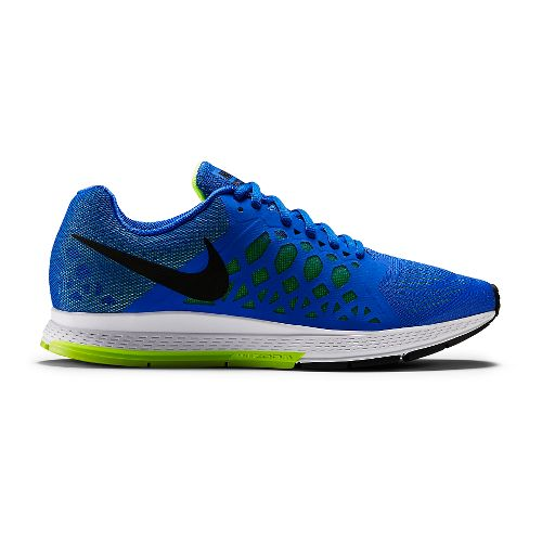 Mens Nike Air Zoom Pegasus 31 Running Shoe - Cobalt/Volt 10.5