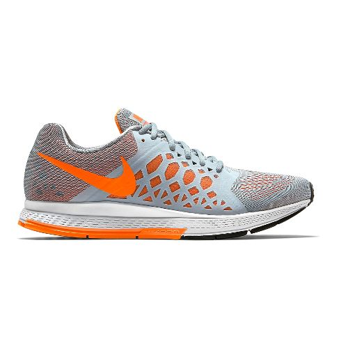 Mens Nike Air Zoom Pegasus 31 Running Shoe - Grey/Orange 12.5