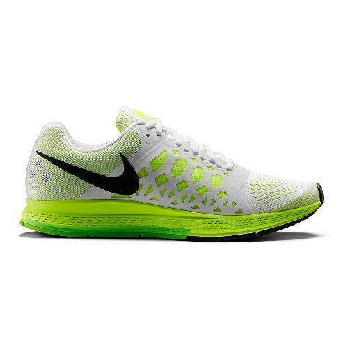 Mens Nike Air Zoom Pegasus 31 Running Shoe - White/Volt 9