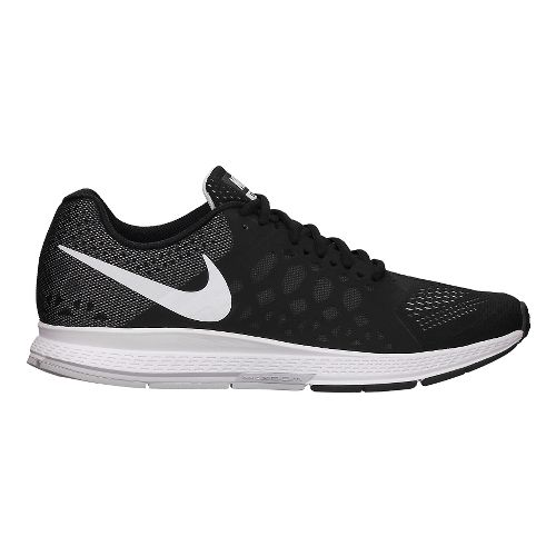 Mens Nike Air Zoom Pegasus 31 Running Shoe - Black/White 12.5