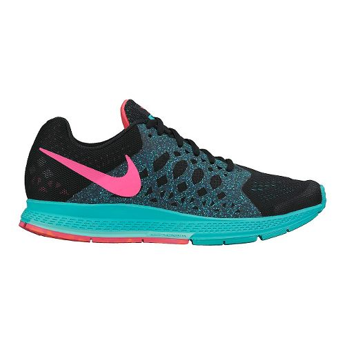 Womens Nike Air Zoom Pegasus 31 Running Shoe - Black/Jade 11