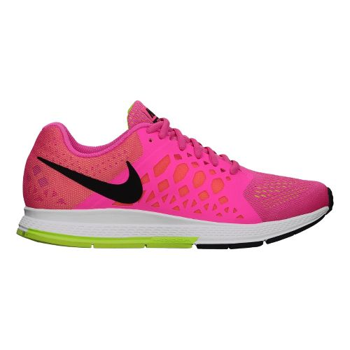 Womens Nike Air Zoom Pegasus 31 Running Shoe - Pink/Volt 7