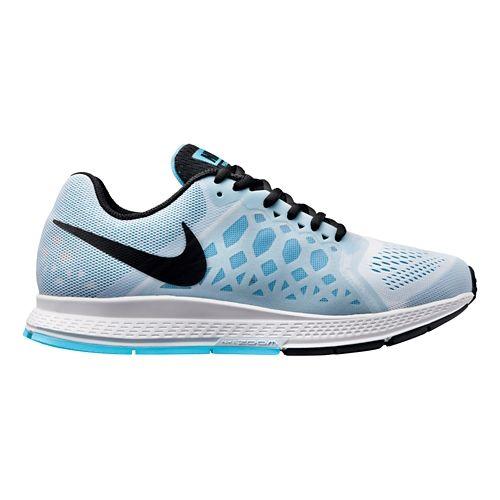 Womens Nike Air Zoom Pegasus 31 Running Shoe - White/Blue 9